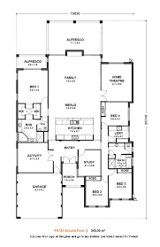 One Story 4 Bedroom House Floor Plans Home Architecture House Plan House Plan Single Storey Bedroom