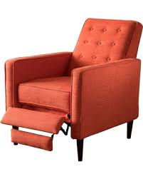 recliners that do not look like recliners don t miss this bargain macedonia recliner muted orange