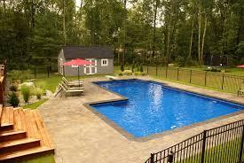 Average Backyard Pool Size L Shape Inground Pool Kits Royal Swimming Pools