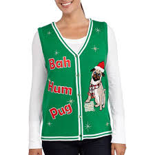 s pug sweater vest walmart