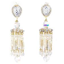 and pearl chandelier larry vrba and pearl chandelier earrings for sale at