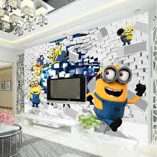 wallpapers for kids bedroom 3d cute minions photo wallpaper cartoon despicable me wall mural
