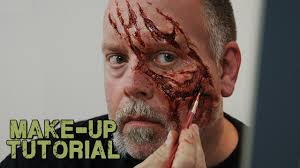 how to apply a prosthetic to yourself zombie style youtube
