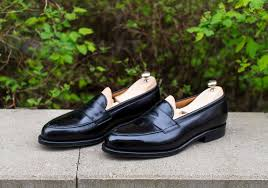 Most Comfortable Loafers Septieme Largeur 9095 Last Penny Loafers In Black Calf