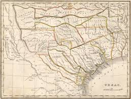 Van Texas Map Texas Yesteryear Once More