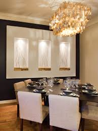 Dining Room Accent Wall by Modern Dining Room Decorating Ideas With Luxurious Hanging Lamp On