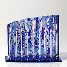ceramic menorah artist made menorahs artful home