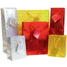 gift bags christmas holographic gift bags pk08 bright ideas crafts