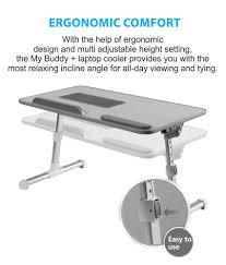 Adjustable Laptop Desks by My Buddy Laptop Cooling Desk Buy My Buddy Laptop Cooling