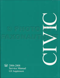 2008 honda civic electrical troubleshooting manual original