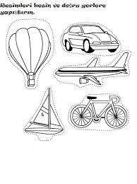 cut and paste transportation worksheet 2 anak anak pinterest