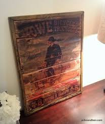 Nostalgic Home Decor Howe Bicycle Manufacturing Vintage Style Sign On Reclaimed Wood