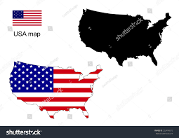 Usa Map Vector by Usa Map Vector Usa Flag Vector Stock Vector 252494572 Shutterstock