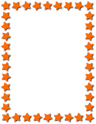 star frame orange page frames star border star frame orange png