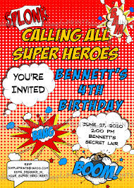 superhero comic printable invitation dimple prints shop