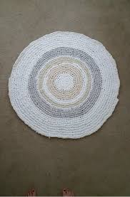Rag Rug Bracelet Circular Rag Rug Crocheted 6 Steps With Pictures