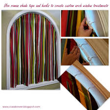 Arched Window Curtain Casa Bower Diy Curtains For An Arch Window More Details