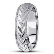 leaf wedding band antique style diamond cut leaf design wedding band ring