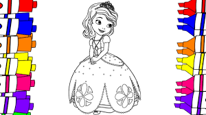 sofia coloring pages color sofia disney junior