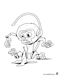 cute monkey coloring pages to print stripy page free printable