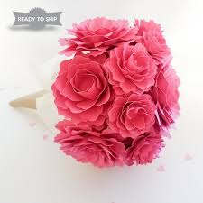 paper flower bouquet raspberry pink benefit blossoms arrangement paper flower bouquet