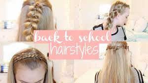 5 easy u0026 cute back to hairstyles no heat second day