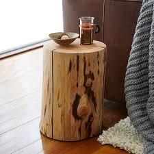 living room impressive natural tree stump side table west elm
