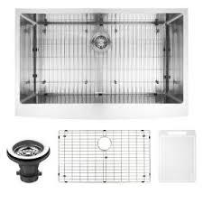 Single Basin Kitchen Sinks by Kohler Whitehaven Undermount Farmhouse Apron Front Cast Iron 36 In