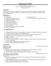 Barber Resume Example by Cosmetologist Resume Cover Letter Cosmetology Resume Objectives