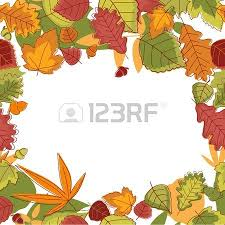 autumn falling leaves frame for thanksgiving or seasonal design