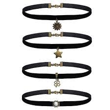 choker necklace with pendant images Bodyj4you 24pcs choker necklace lot black floral velvet lace jpg