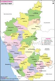 Dubai India Map by Karnataka Map Districts In Karnataka