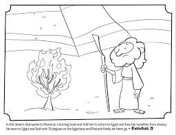 Moses And The Burning Bush Bible Coloring Pages Whats In The Bible Bible Coloring Pages Moses