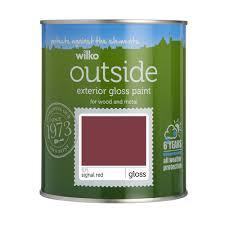 wilko exterior gloss paint signal red 750ml at wilko com