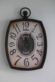 ornaments cafe de gare wall clock frances brown