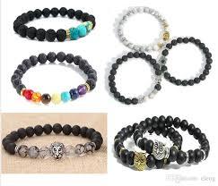 antique beaded bracelet images 2018 new design mens bracelets 8mm lava stone beads with antique jpg