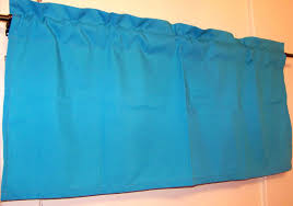 blue turquoise valance blue kids room window treatment