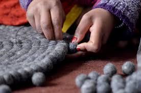 Wool Ball Rug Felt Ball Rugs Diy Shubha Sagun