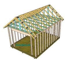 a frame roof shed roof building a shed roof roof framing
