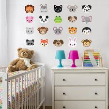 20 large animal emoji wall decals wall dressed up 20 large animal emoji wall decals wall dressed up 1