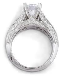 beveled engagement ring diamond cathedral engagement ring with beveled shank 7939