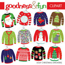 buy 2 get 1 free ugly christmas sweater christmas clipart