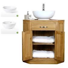 Contemporary Bathroom Sink Units - 50 off oak corner vanity unit with basin bathroom prestige