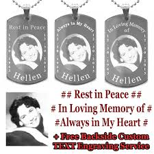 in loving memory dog tags in loving memory custom photo engraving dogtags