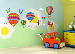 Nursery Wall Decorations Removable Stickers Wholesale Removable Air Balloon Wall Stickers Airplane Wall