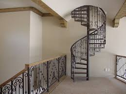 Home Interior Staircase Design by Magnificent Classic Design Spiral Staircase With Black Ornate