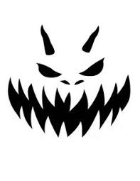 Free Scary Halloween Pumpkin Stencils - big smile with teeth free printable coloring pages samhain
