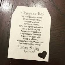 wedding gift honeymoon fund check out honeymoon fund invitation insert for bridal shower or
