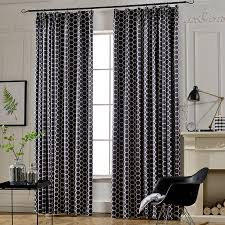 Blackout Navy Curtains Navy Geometric Floor To Ceiling Blackout Curtains