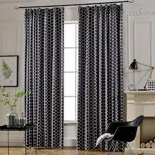 Navy Curtain Navy Geometric Floor To Ceiling Blackout Curtains